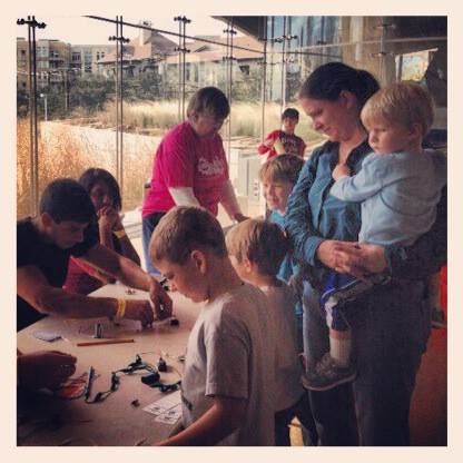 Visitors to the Perot Museum got to learn about circuits from Dallas SWE volunteers.