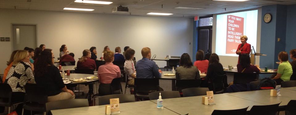 Dallas SWE Members and guests enjoy Cary Broussard's presentation at Abbot Diagnostics