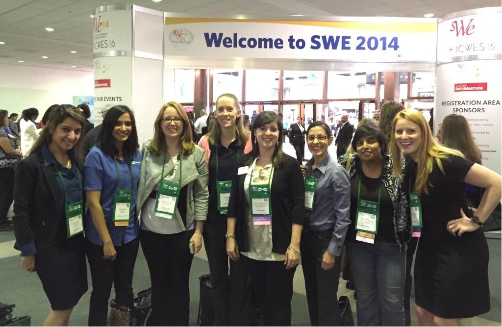Dallas SWE members outside the Career Fair!