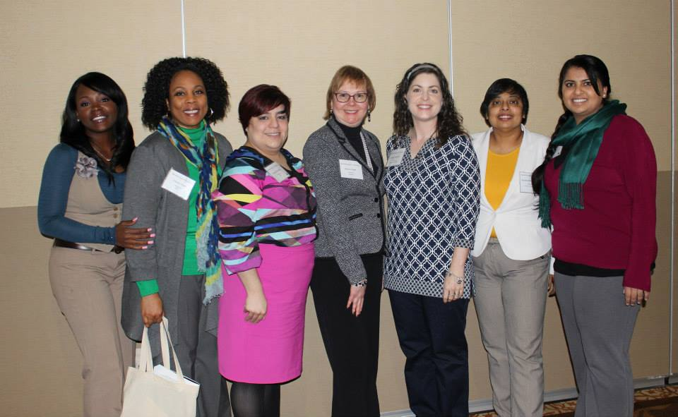 From left to right: Anique Cooley, Cherrie Fisher, Amanda Posadas, Barbara Read, Shelley Stracener, Nandika D'Souza, Zaineb Ahmad