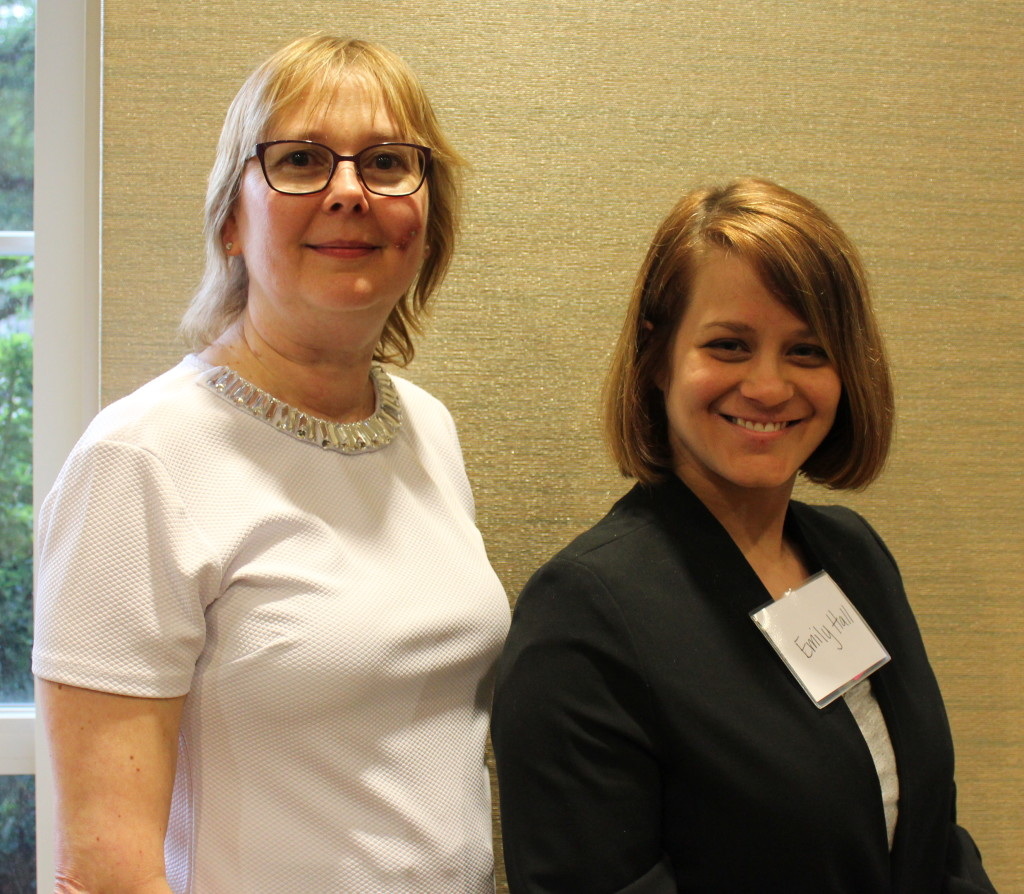 In keeping with our new tradition, here is a photo of first time attendee Emily with Dallas SWE President Barbara Read!