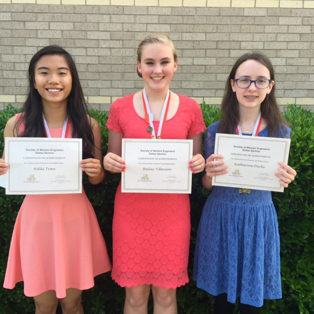 2015 Dallas SWE Certificate Recipients - Travis Middle School