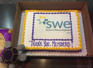 Our Region C turtle mascot, CeCe, loved the custom SWE cake!