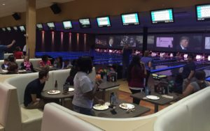 Bowling fun at Main Event!
